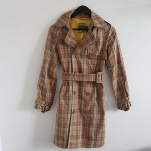 COMMUNITY Peach Button Pocket Trench Coat